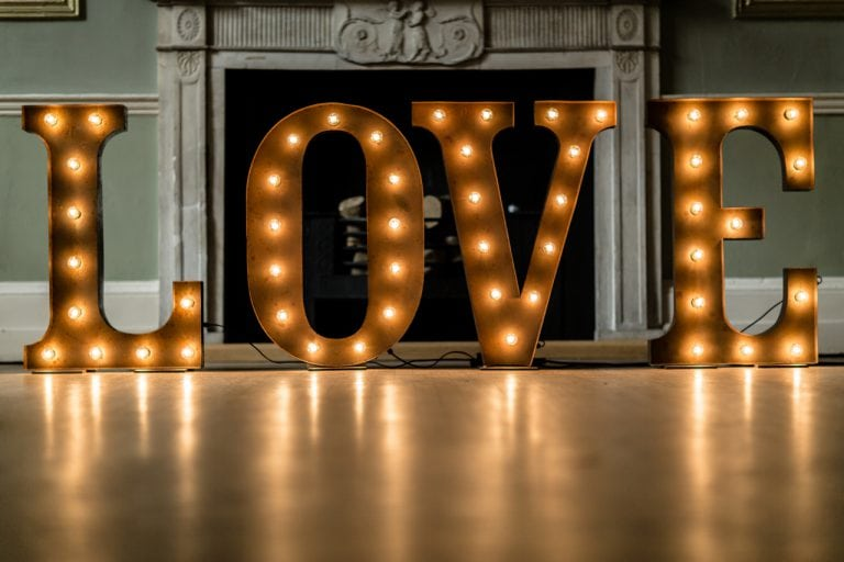 3ft Rustic Light Up LOVE Letters