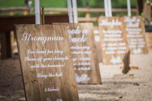 Bespoke Wooden Signage for Funfair Games