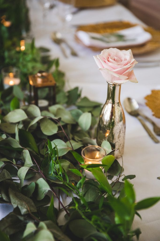 Foliage Garland on Top Table