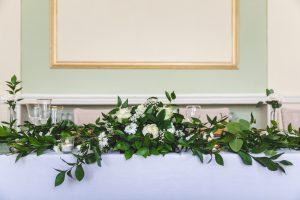 Top Table Decoration with Floral Arrangement