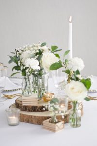 Assortment of Jars and Bottles on Mini Crate Centrepiece