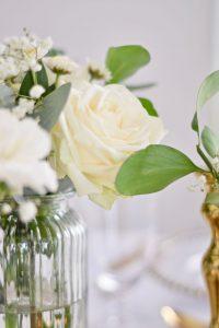 Close Up of Floral Arrangement in Assortment of Mini Crates Centrepieces