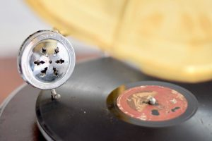 Close Up of Vintage Gramophone