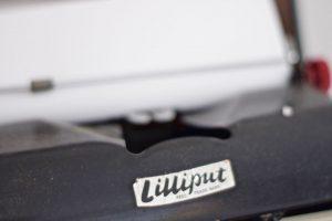 Close Up of Vintage Typewriter Brand